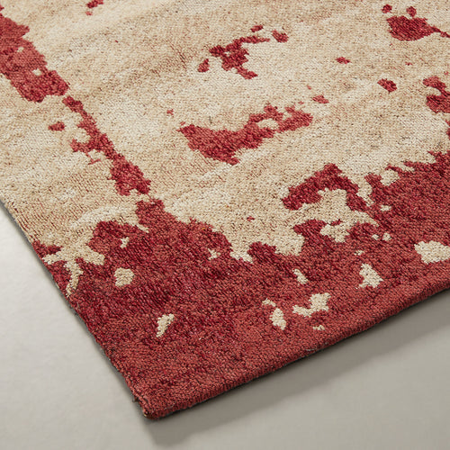 Astrid Rug - Stamped with Beige Base and Pink Highlights 160 x 230 cm - Home-Buy Interiors