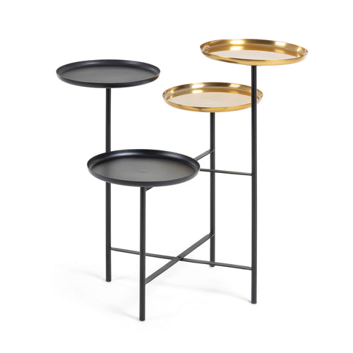 NANUK Side Table Metal Brass Black, Side Table - Home-Buy Interiors