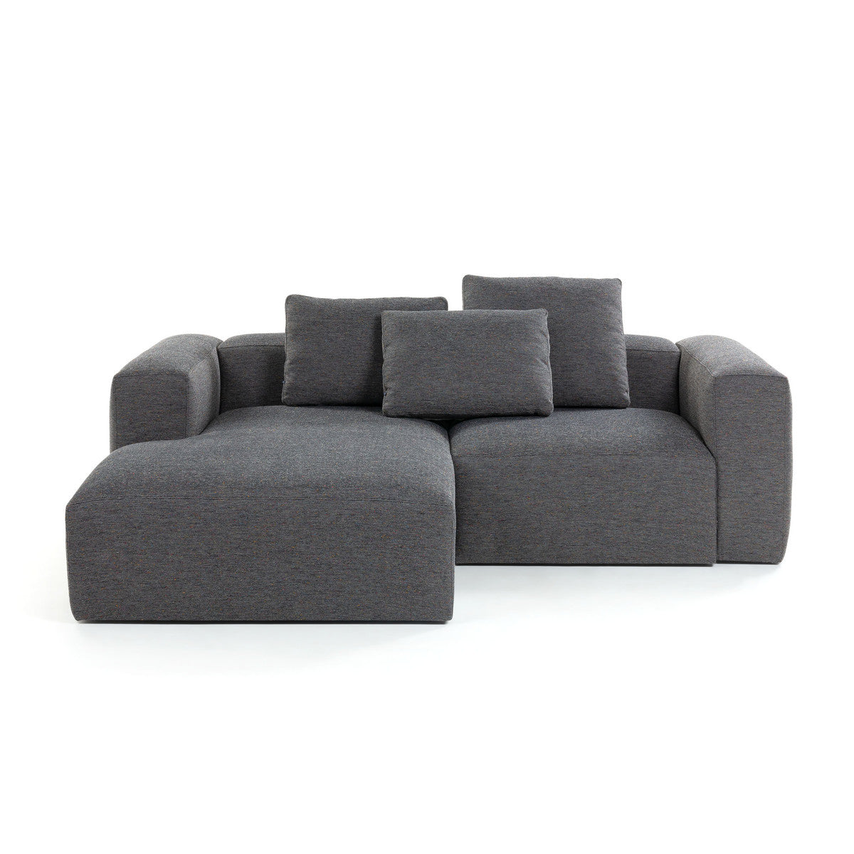 Cube Sofa Backrest Cushion 50 x 70cm in Dark Grey Fabric