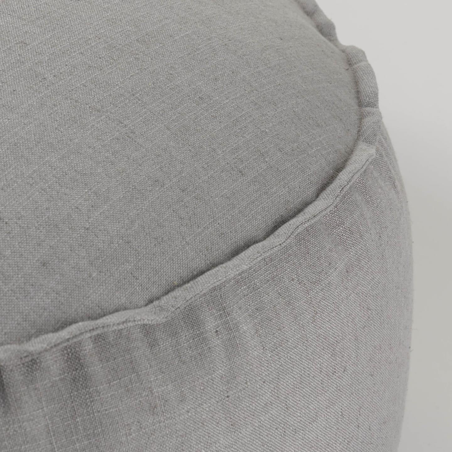 Mena Large Grey Pouf