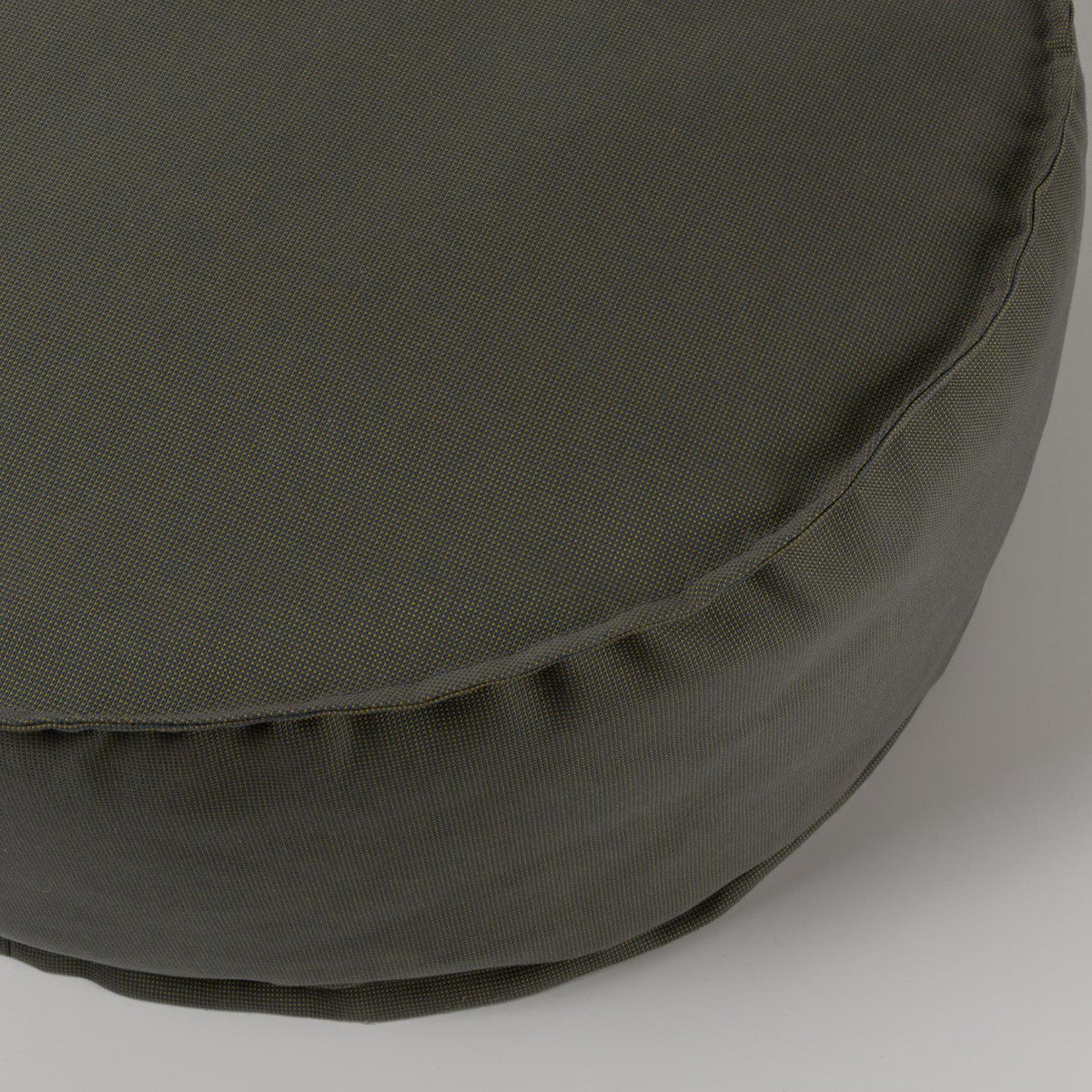 Lissette Grey Round Alfresco Pouf