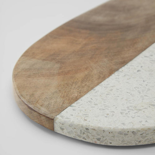 August terrazzo and timber serving board