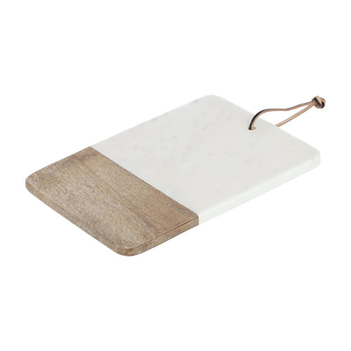 Dartine Marble And Timber Serving Board