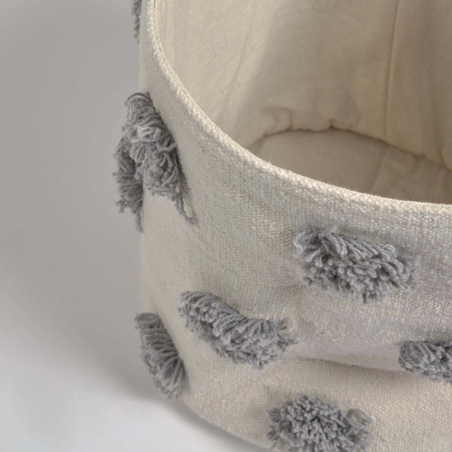 Kallie Small Basket In Grey