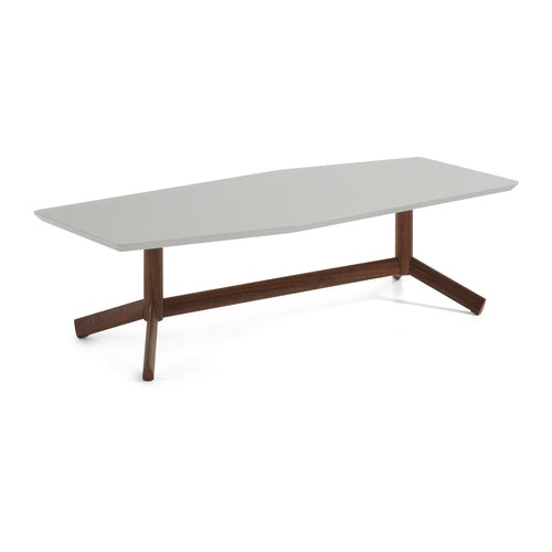 Adolfo Coffee Table - Matt Light Grey Top, Table - Home-Buy Interiors