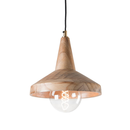 Branson Pendant Light  - Natural Mango Wood, Lighting - Home-Buy Interiors