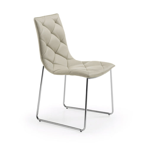 Budgie Chair in Pearl PU, Dining Chair - Home-Buy Interiors