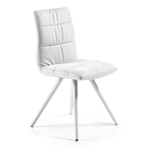 Aubrey Chair -  White PU with white legs - Home-Buy Interiors