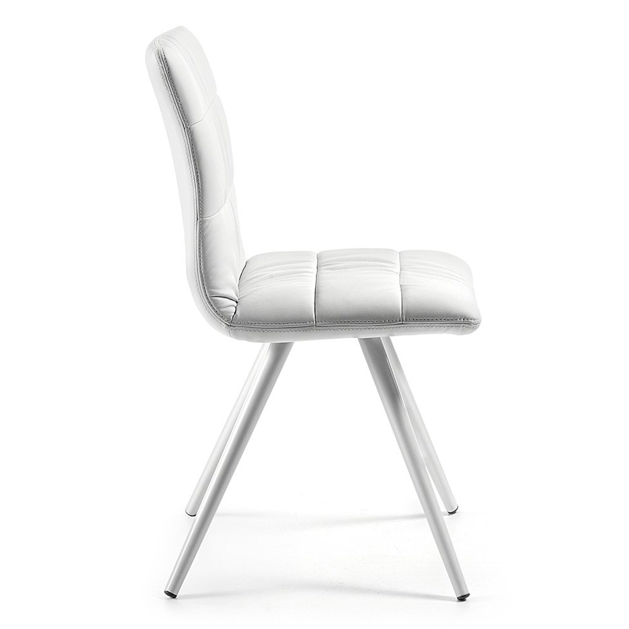 Aubrey Chair -  White PU with white legs, Chair - Home-Buy Interiors