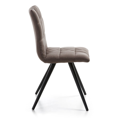 Aubrey Chair - Dark Brown Fabric - Home-Buy Interiors