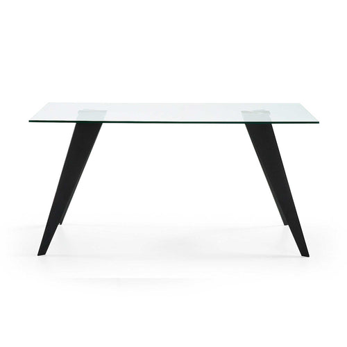 Lacey Dining Table - Black Steel Legs 160 x 90 cm, Dining Table - Home-Buy Interiors