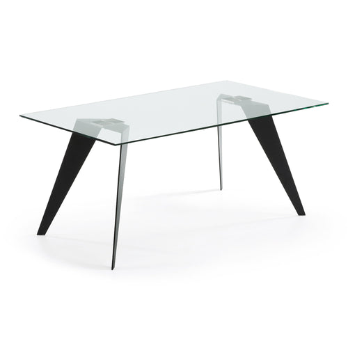 Lacey Dining Table - Black Steel Legs 180 x 90 cm, Dining Table - Home-Buy Interiors