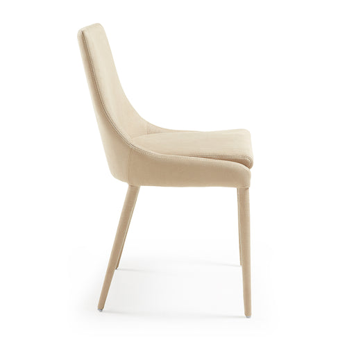 Chad Chair - Nubuck Fabric Beige, Dining Chair - Home-Buy Interiors