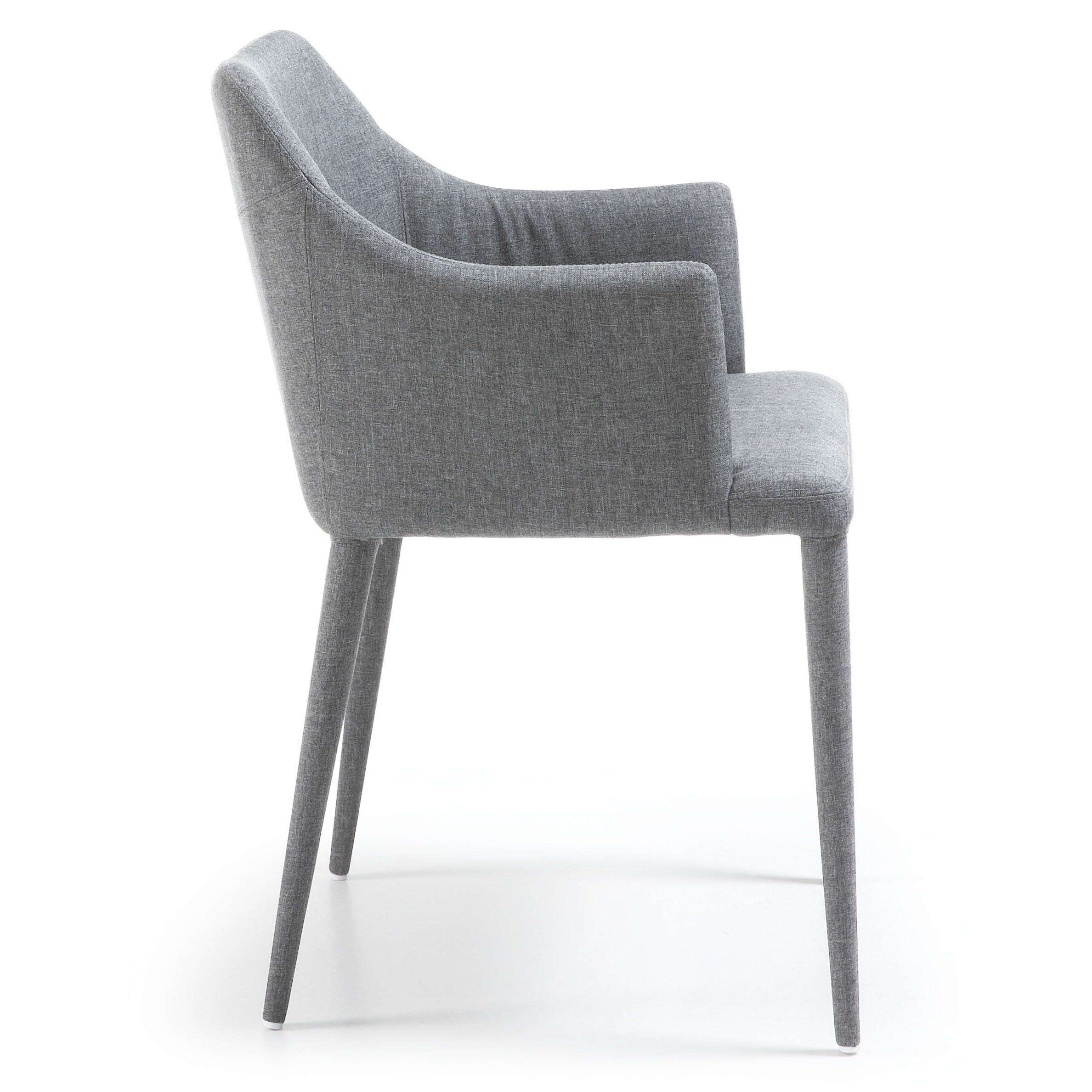 Danni chair Upholstered in Light Grey Fabric