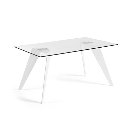 Lacey Dining Table - White Steel Legs 160 x 90 cm, Dining Table - Home-Buy Interiors