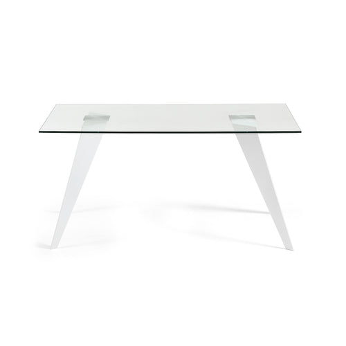 Lacey Dining Table - White Steel Legs 180 x 90 cm, Dining Table - Home-Buy Interiors