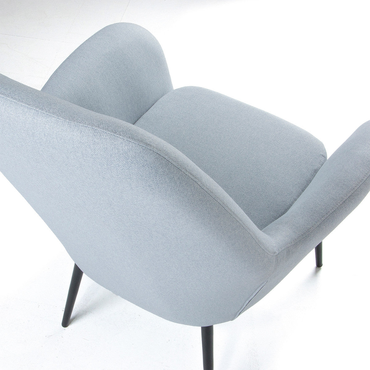 Lori Armchair upholstered in Light Blue Fabric