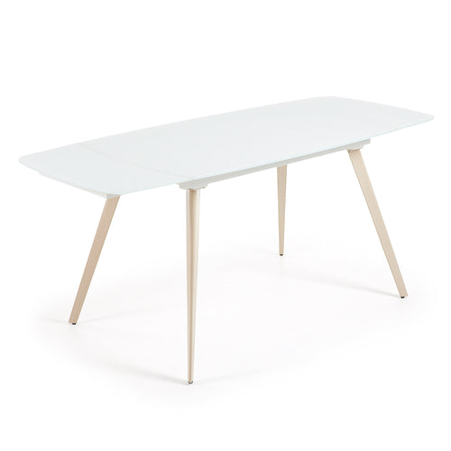 Fraser Table - White Glass,  - Home-Buy Interiors