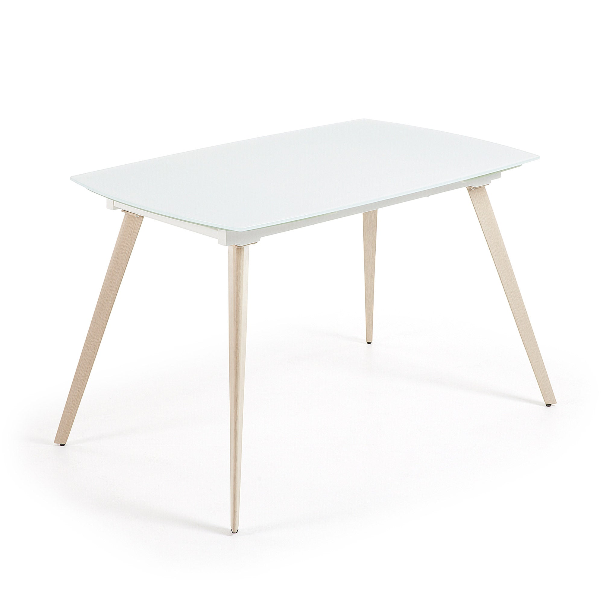 Fraser Extension Table 140-210 cm Natural & White Glass, Table - Home-Buy Interiors