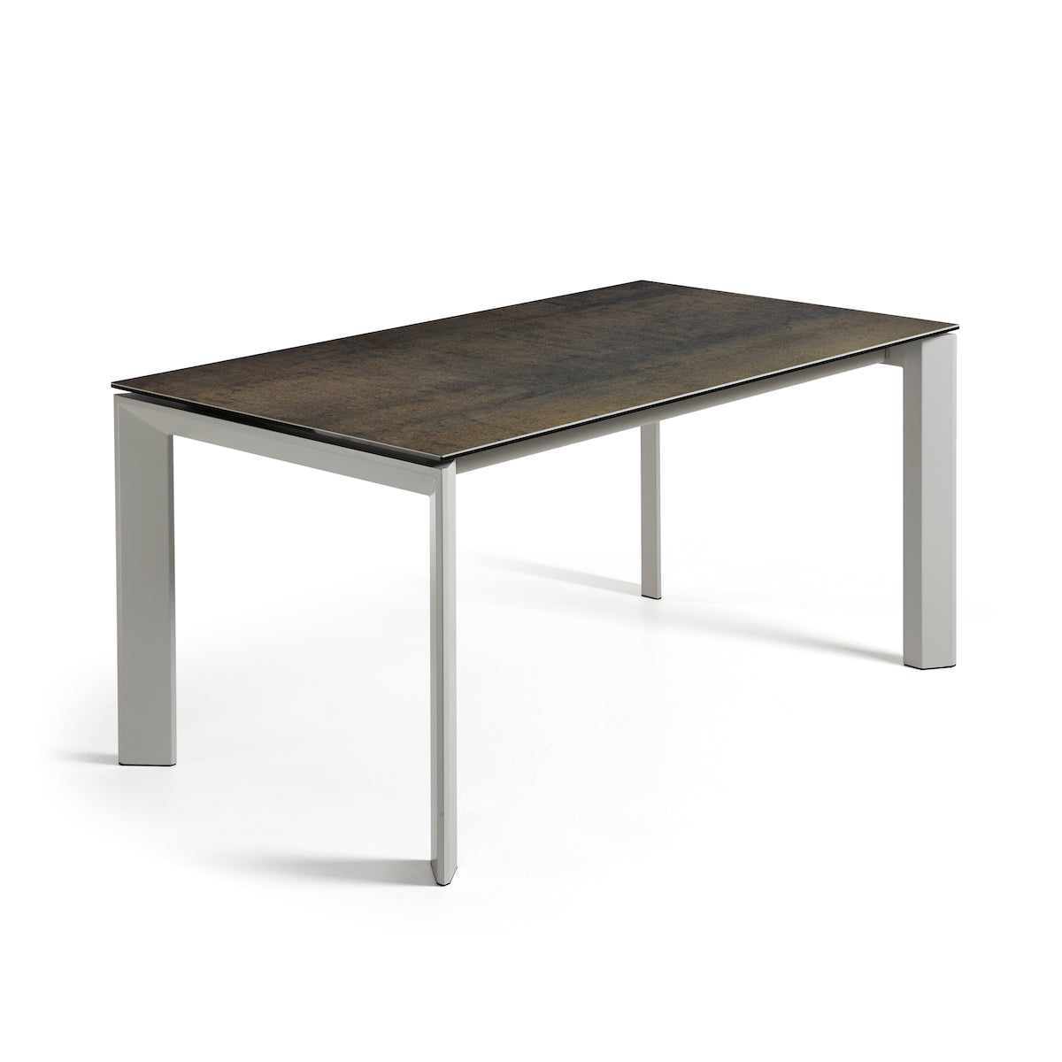 ATTA Table 160(220)x90 grey ceramic iron moss, Dining Table - Home-Buy Interiors