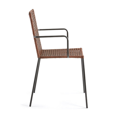 Terra Armchair with woven synthetic Rattan Seat, Chair - Home-Buy Interiors