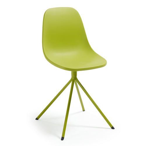 Marco Chair - Legs Epoxy Plastic Seat Lime Green, Dining Chair - Home-Buy Interiors