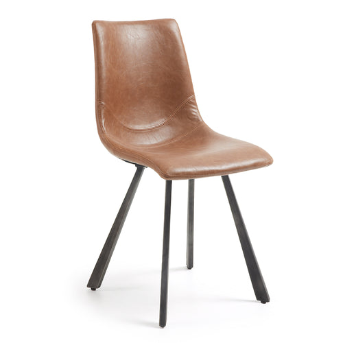 Tram Rust Brown Synthetic Leather Chair