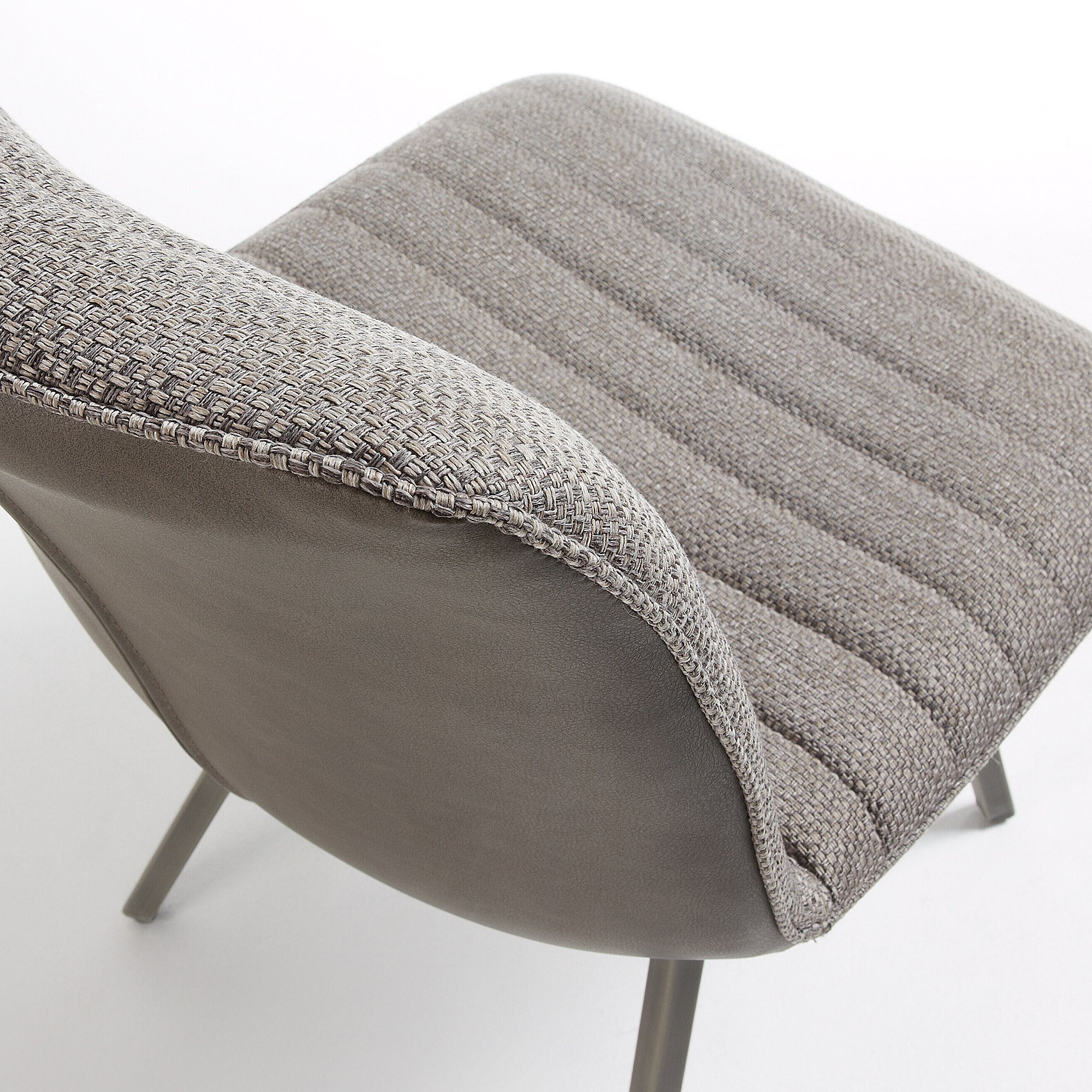 Lianne Chair Upholstered in Taupe Fabric