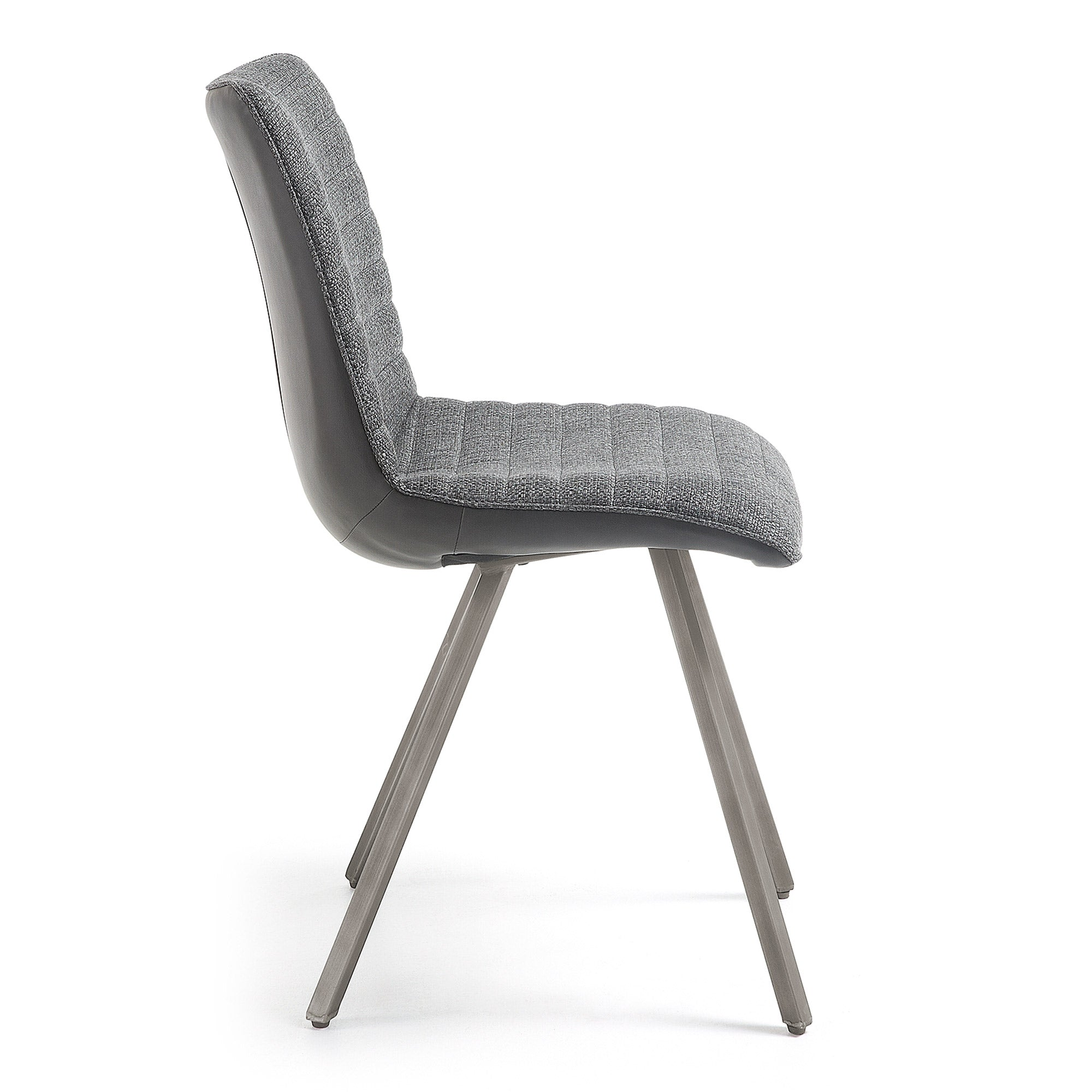 Lianne Chair Upholstered in Dark Grey Fabric