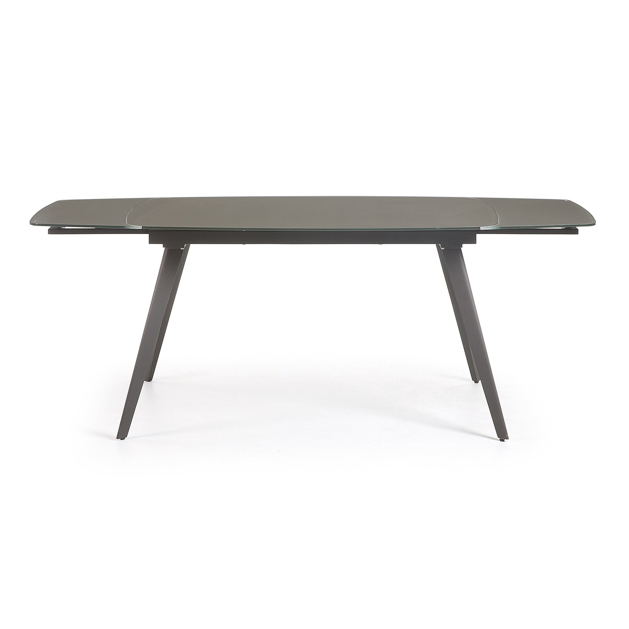 Fraser Table - Anthracite Glass, Table - Home-Buy Interiors