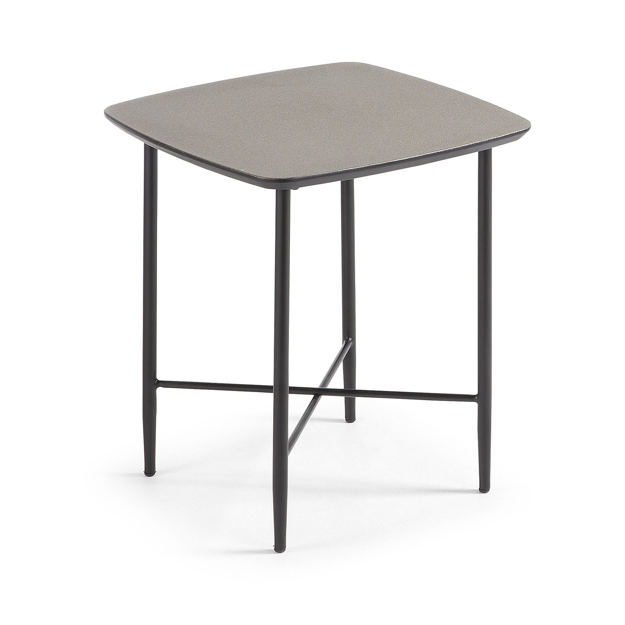 Tyan Side table 45X45 metal mdf brown - CC0521M09, Side Table - Home-Buy Interiors
