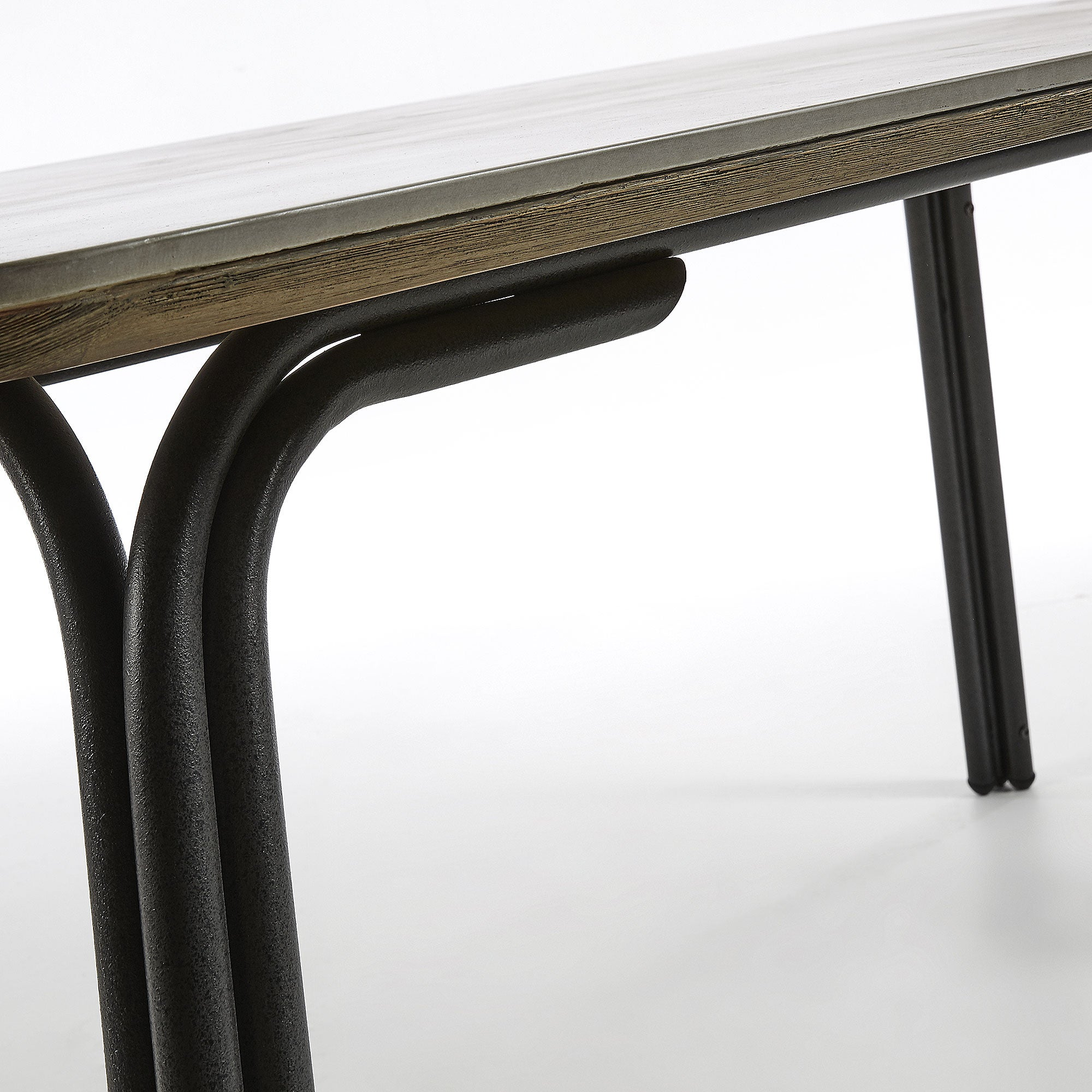 Vermont Table 180cm metal frame poly-cement top, Table - Home-Buy Interiors