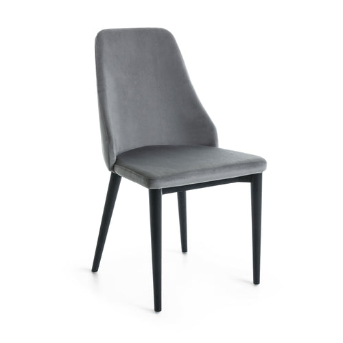 Roxette Chair - velvet grey, Dining Chair - Home-Buy Interiors