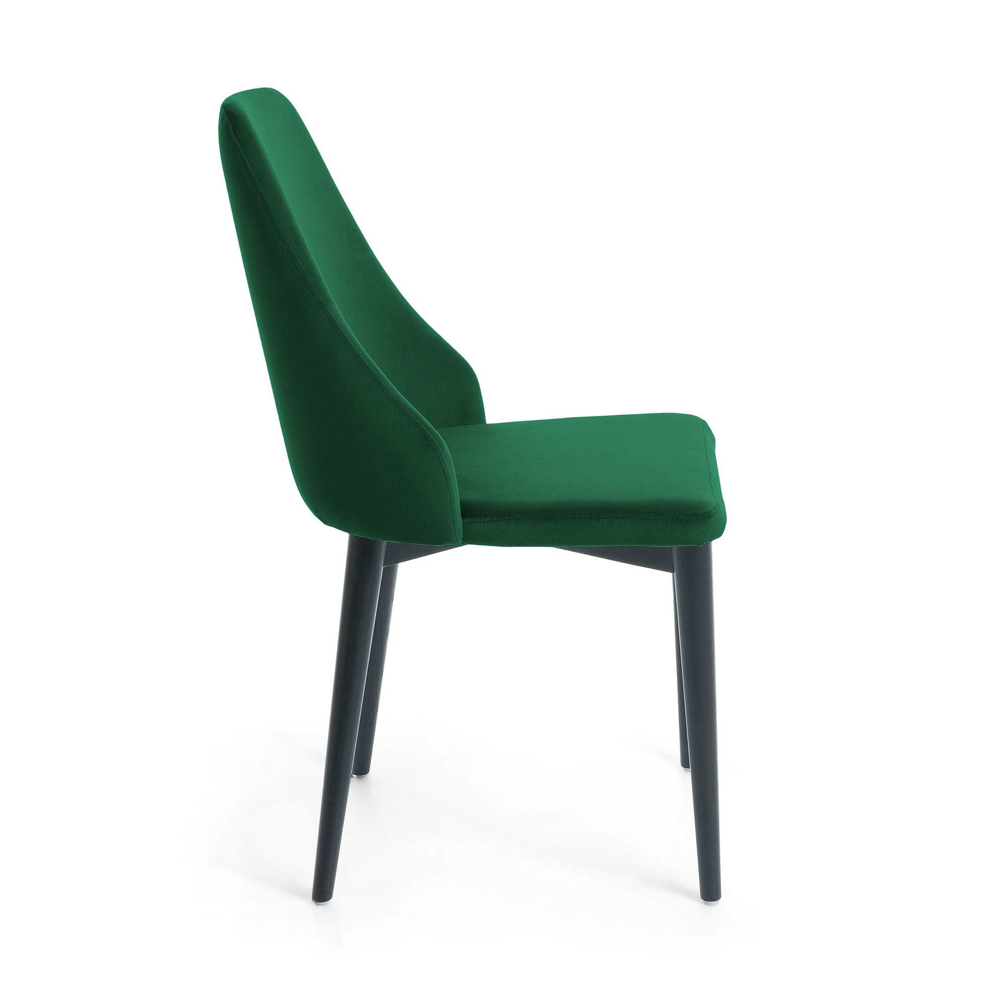 ROXIE Chair black - velvet green, Dining Chair - Home-Buy Interiors