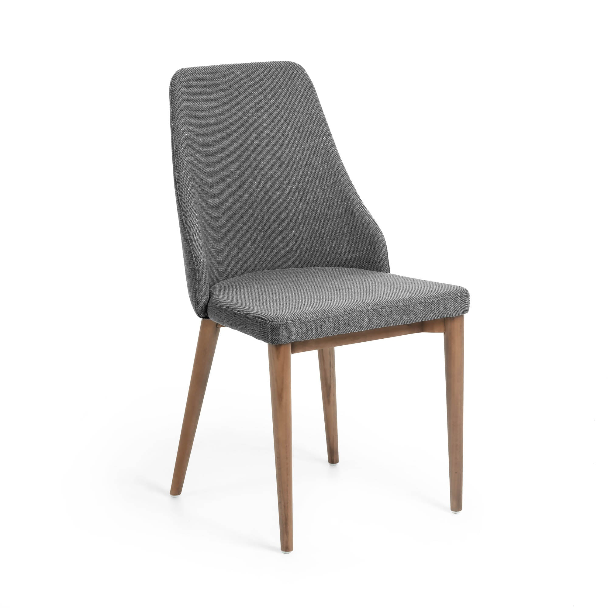 Roxette Chair Dark Grey Fabric with Walnut Leg