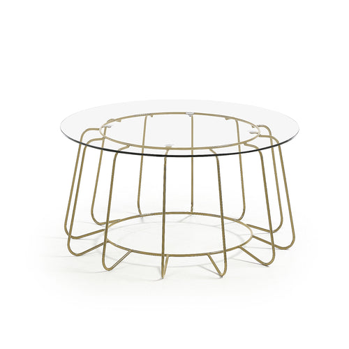PARADIGM Table metal gold clear glass, Coffee Table - Home-Buy Interiors