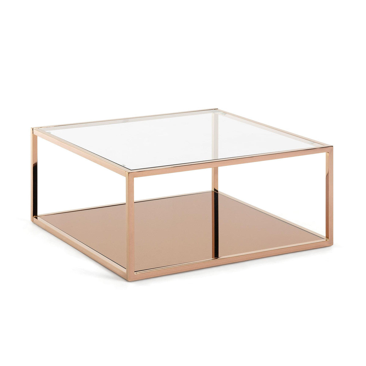 Greenhill Copper & Glass Coffee Table - Square, Coffee Table - Home-Buy Interiors