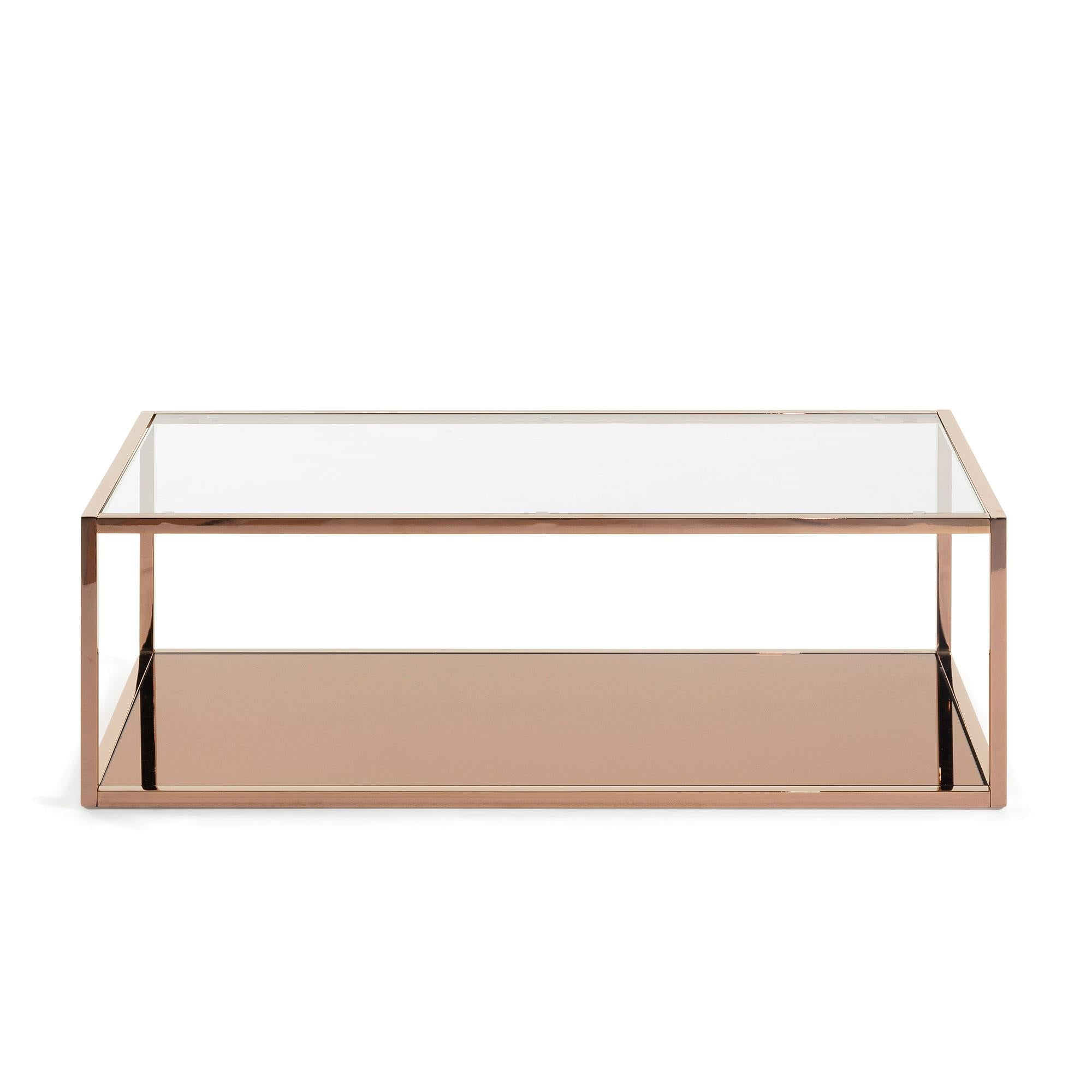 Greenhill Copper & Glass Coffee Table - Rectangular, Coffee Table - Home-Buy Interiors