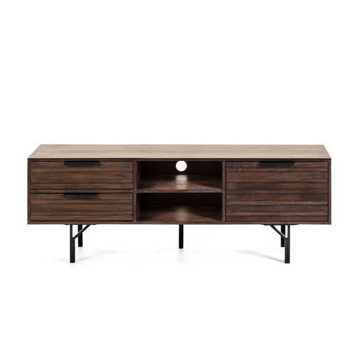 Atlas Timber TV Cabinet in Mahogany Finish