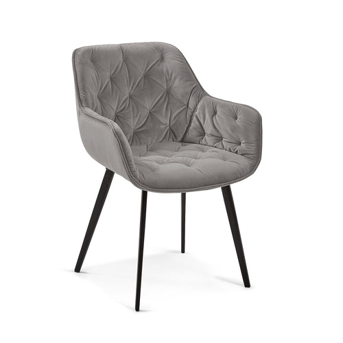 Mulder Chair Grey Velvet - Home-Buy Interiors