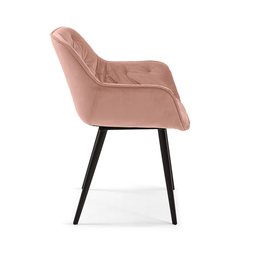 MULDER Chair pink velvet, Dining Chair - Home-Buy Interiors