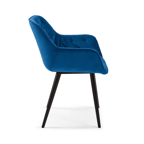 MULDER Chair  blue velvet