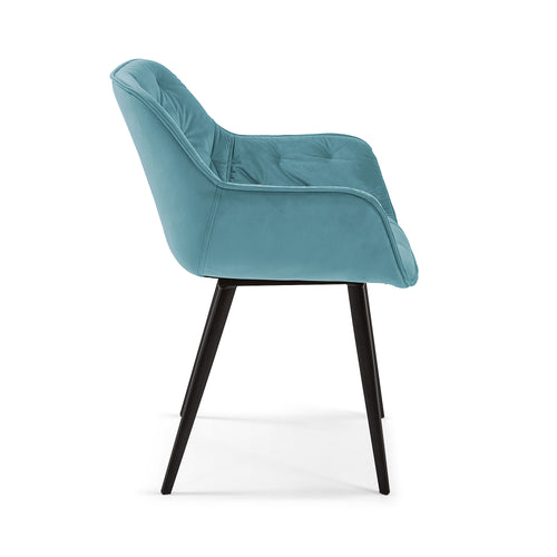 MULDER Chair turquoise velvet, Dining Chair - Home-Buy Interiors