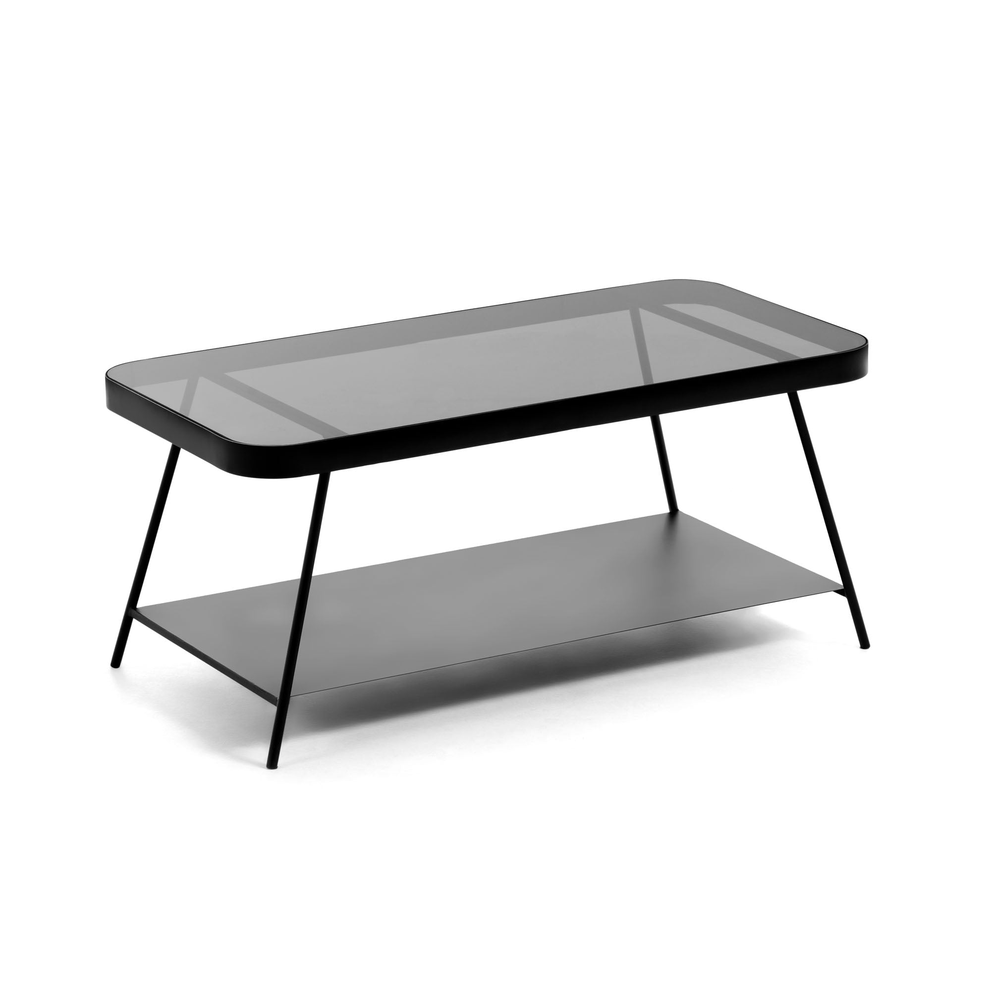Dulcee Smoky Glass Coffee Table