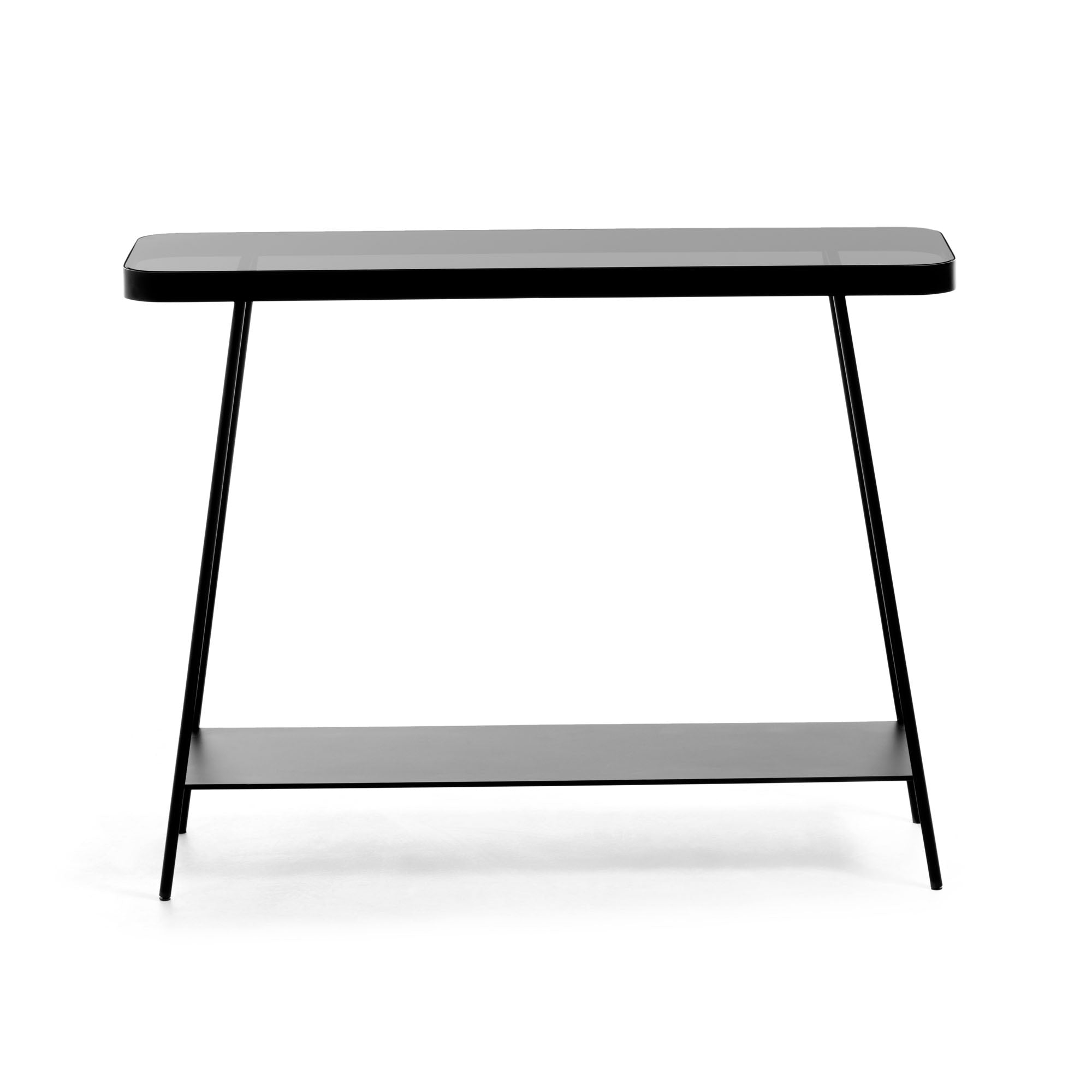 Dulcee Smoky Glass Console Table
