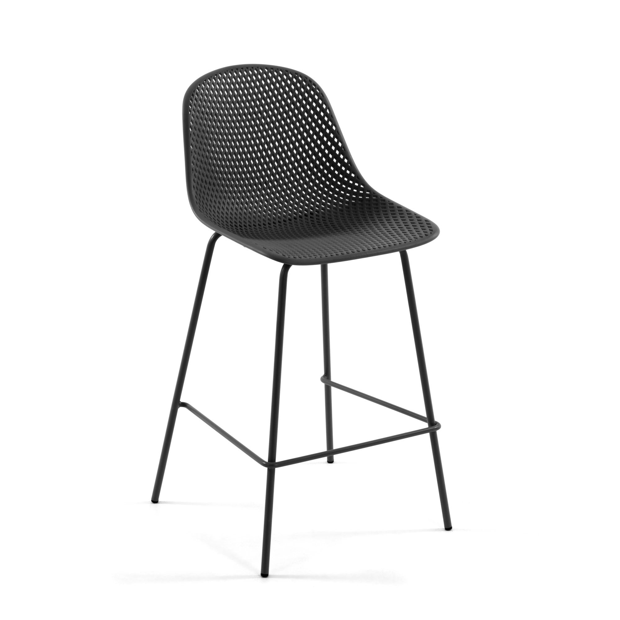 Luino Outdoor Stool Grey Height 75 cm, Barstool - Home-Buy Interiors