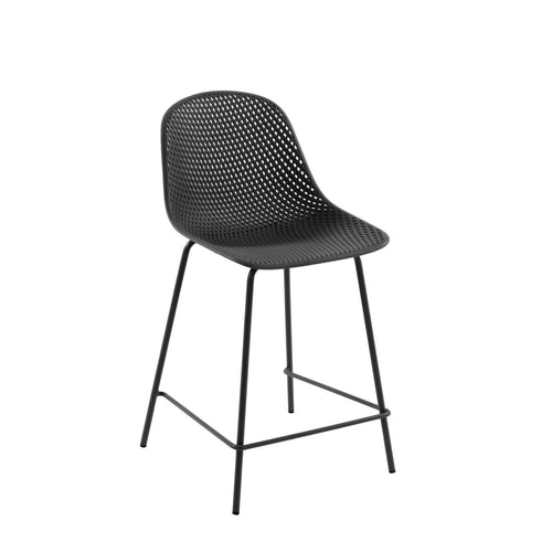 Luino Outdoor Stool Grey Height 65 cm, Barstool - Home-Buy Interiors