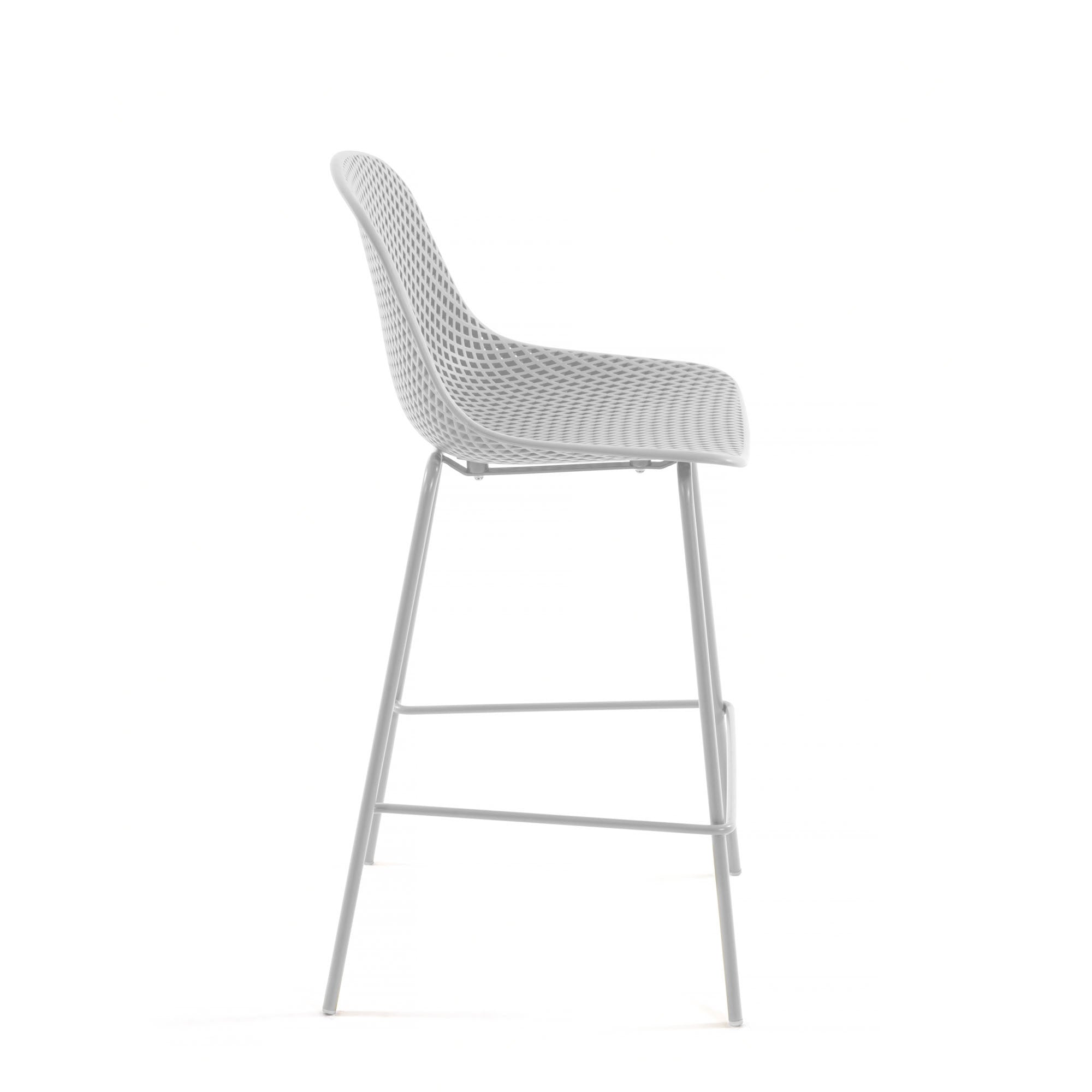Luino Outdoor Stool White Height 75 cm, Barstool - Home-Buy Interiors