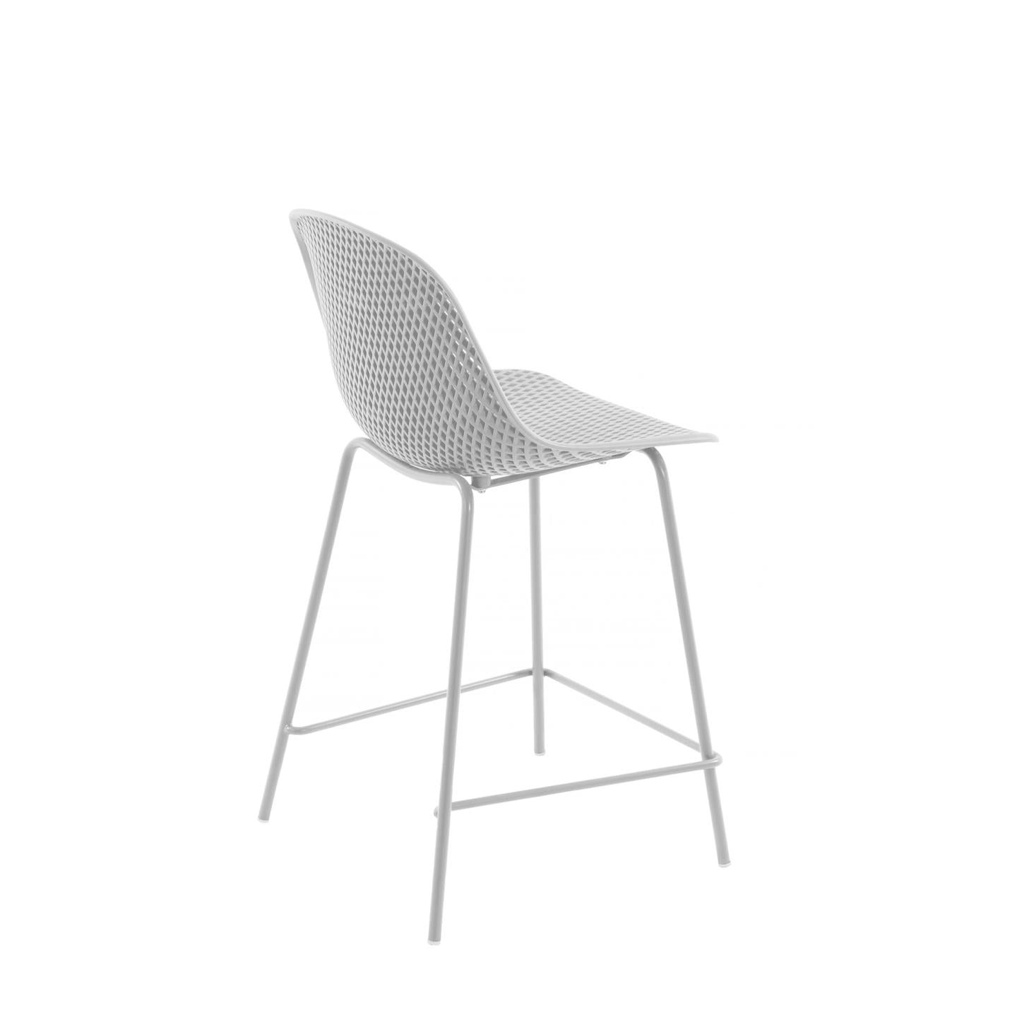 Luino Outdoor Stool White Height 65 cm, Barstool - Home-Buy Interiors