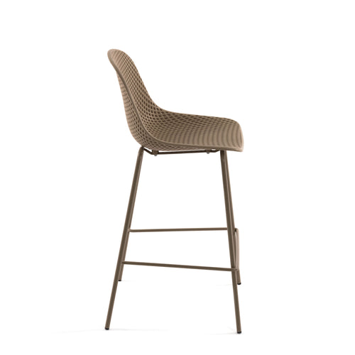 Luino Outdoor Stool Beige Height 75 cm, Barstool - Home-Buy Interiors